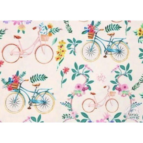 EGYBEN KÉRHETŐ 0,8m Csak a webshopban: Színes biciklis, virágos vízálló szövet (ME3200)