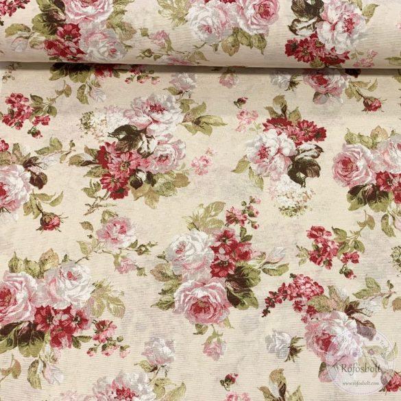 Csodaszép vintage rózsás dekortextil (ME3290)