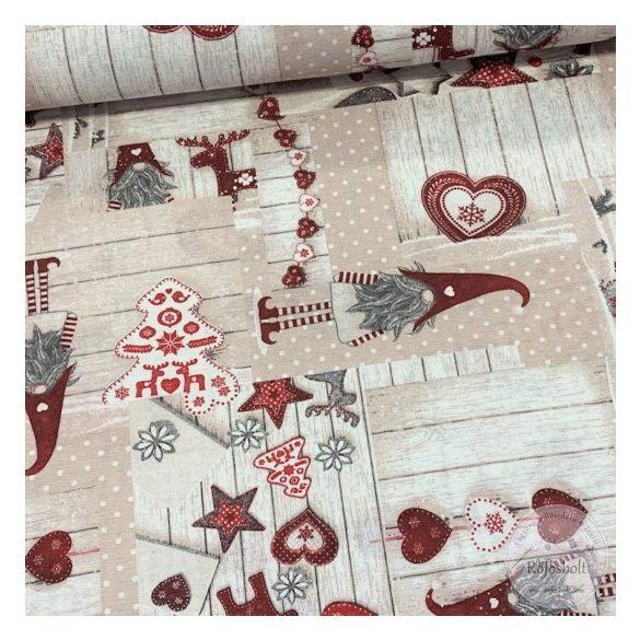 Szakállas manós karácsonyi dekortextil (ME3299)