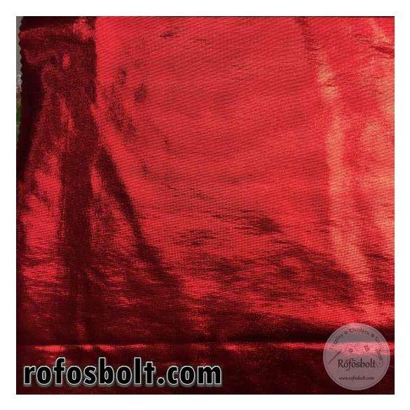 Piros fényes elasztikus lamé (ME3336)