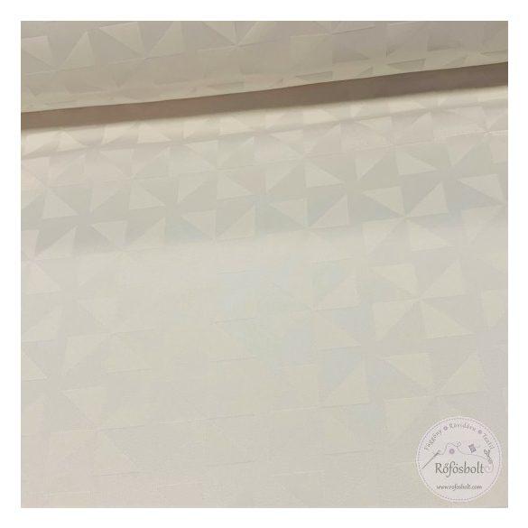 Fehér anyagában háromszög mintás teflonos damaszt (ME3533)