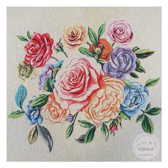 Színes rózsás 48*48 cm-es textil panel (ME3543)