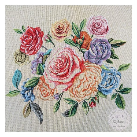 Színes rózsa 47×47 cm-es textil panel (ME3543)