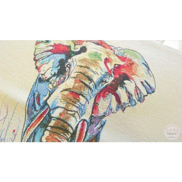 Színes elefánt 47×47 cm-es textil panel (ME3544)