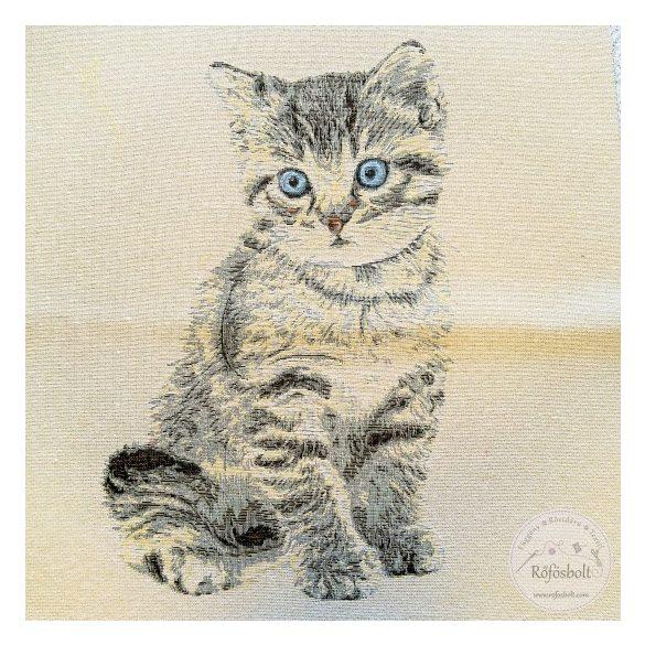 Kék szemű cicás 48*48 cm-es textil panel (ME3549)