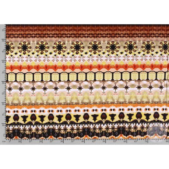 0,6 EGYBEN KÉRHETŐ Nyári álom kollekció: Sárga-narancssárga színvilágú digitális nyomású pamut jersey (ME3594)