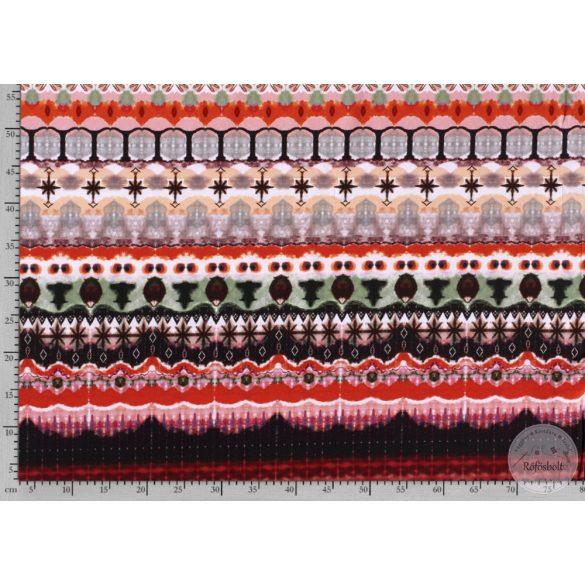 Nyári álom kollekció: Pirosas színvilágú digitális nyomású pamut jersey (ME3597)