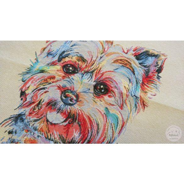 Westie kutyus 47×47 cm-es textil panel (ME3636)