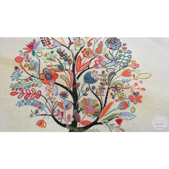 Színes életfa 47×47 cm-es textil panel (ME3637)