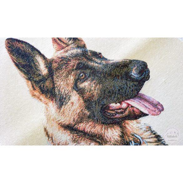 Németjuhász kutya 47×47 cm-es textil panel (ME3638)