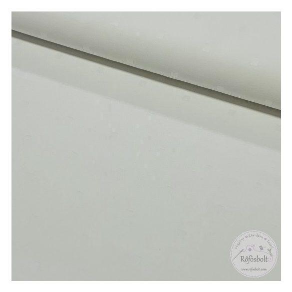 Fehér, anyagában kis négyzetmintás damaszt 160 cm sz. (ME3704)