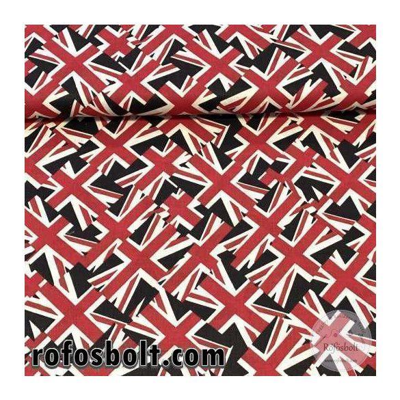 Egyesült Királyság zászlós pamutvászon (ME3775)