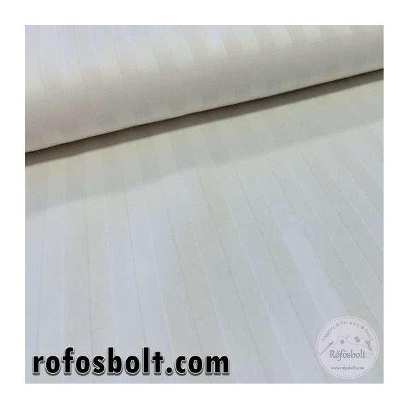 Fehér, anyagában csíkos pamutszatén (100% pamut) (ME3837)