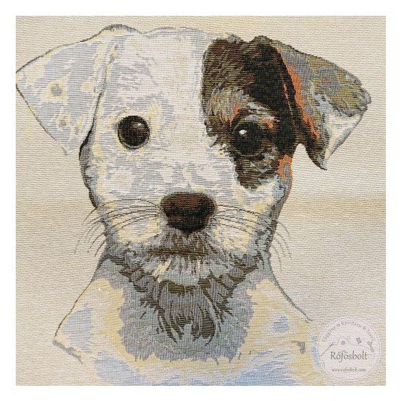Fehér kölyök skót terrier textil panel 47×47 cm-es (ME3847)