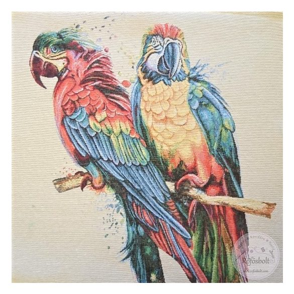 Színes papagájok a szélben panel 47×47 cm-es (ME3848)