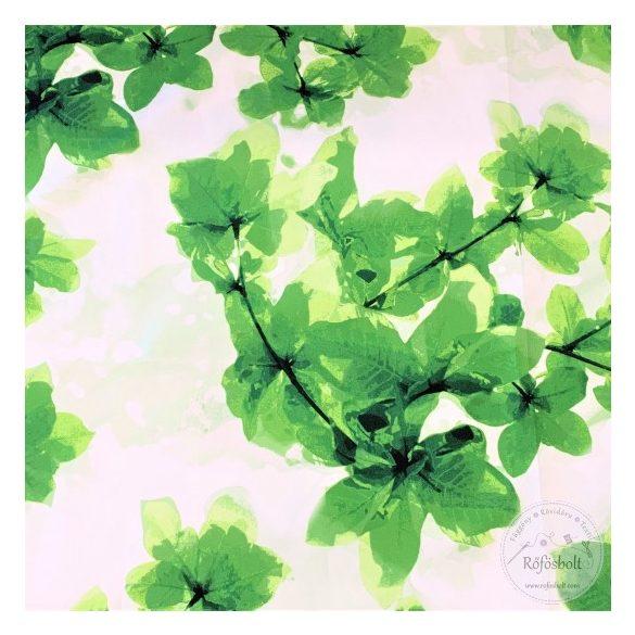 Csak a webshopban: Zöld levelek a lugason vízálló szövet (ME3887)