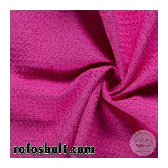 Waffle pamut: Pink/fuxia (017) (ME3941)