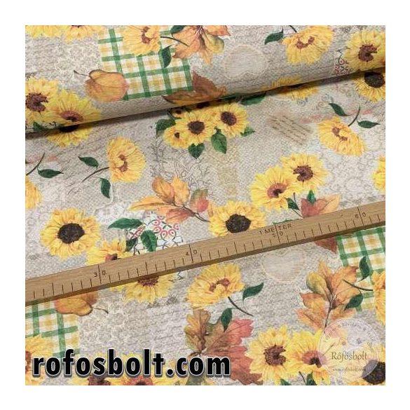 Napraforgós-őszi leveles dekortextil (ME3956)
