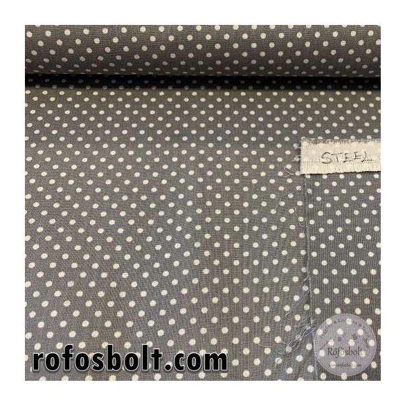 Steel grey 2 mm-es kispöttyös pamutvászon (ME3983)