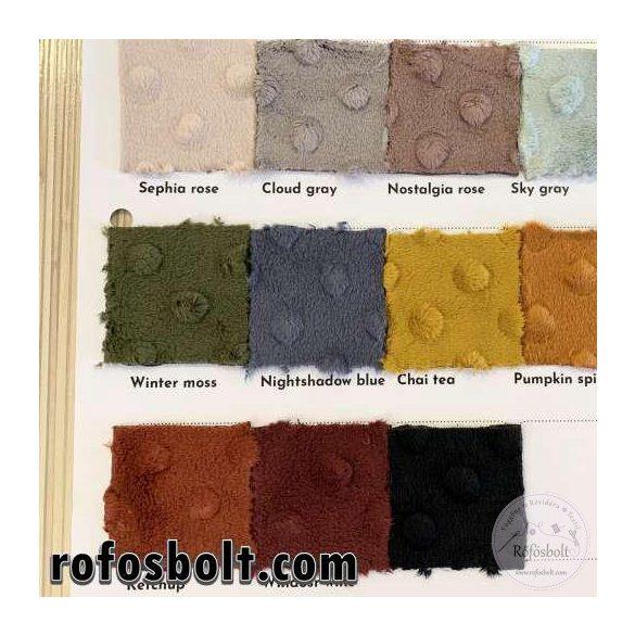 Premium Minky retró szín kollekció: Winter Moss (mohazöld) (ME4004)