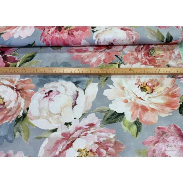 Bio-pamut dekortextil: Rózsás olajfestmény (ME4046)