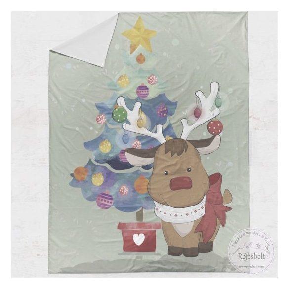 Premium designer: Karácsonyi szarvas-égőkkel takaró panel 100*135 cm-es (ME4061)