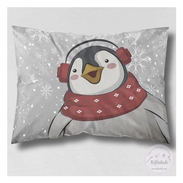 Merry Christmas pingvines kispárna panel 30*40 cm-es (ME4066)