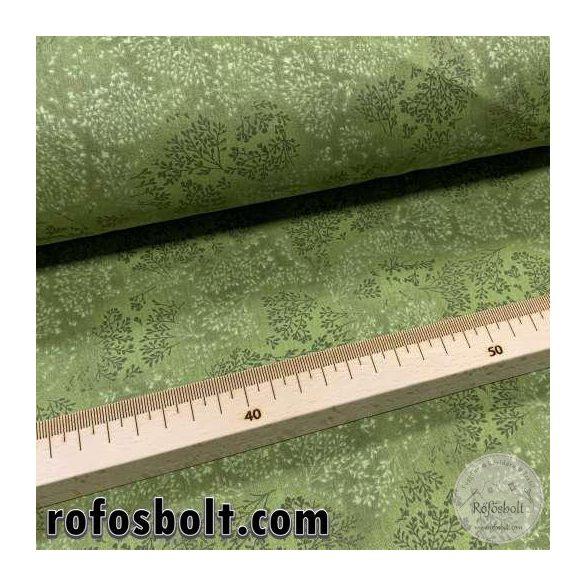 Zöld alapon kapros mintás pamutvászon (ME4109)