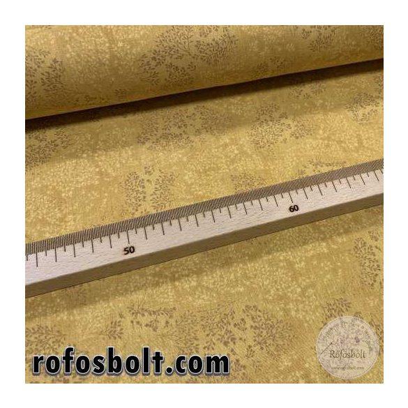 Mustár alapon kapros mintás pamutvászon (ME4111)