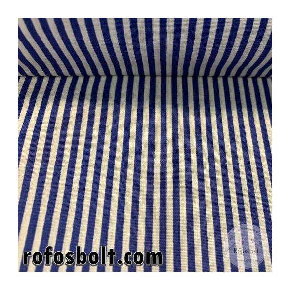 Kék-fehér 2mm-es csíkos pamutvászon (ME4154)
