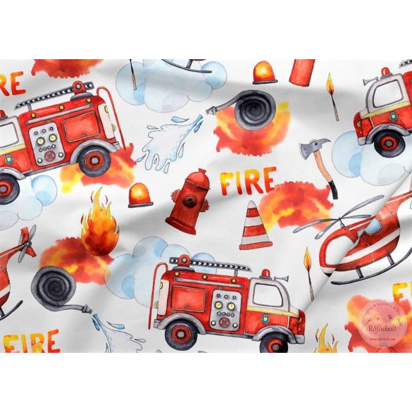 Designer prémium pamutvászon: Tűzoltós (ME4235)