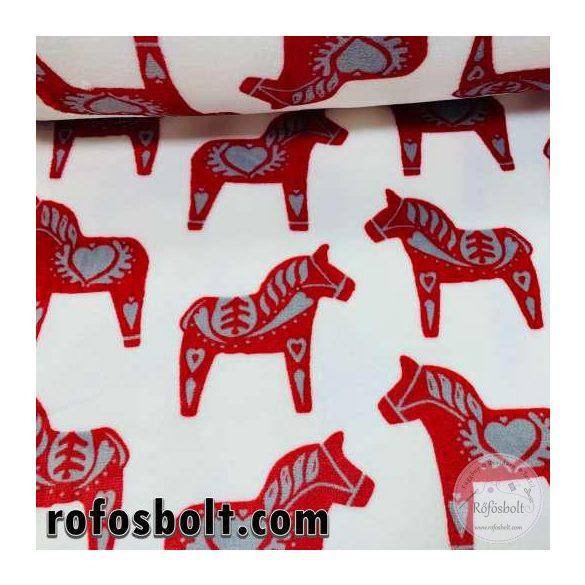 Piros lovacskák, szürke szívvel wellsoft (ME4242)