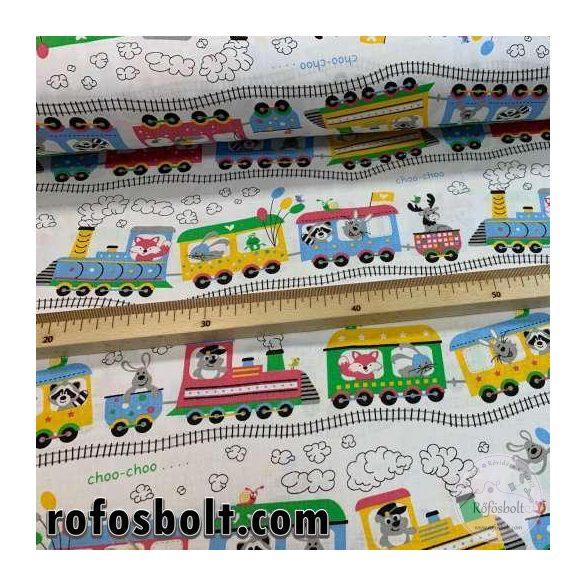 Small choo-choo train 160 cm sz. pamutvászon (ME4272)