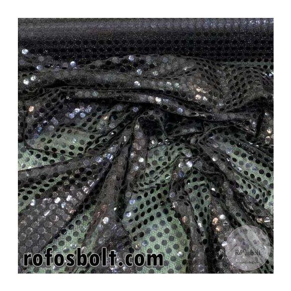 Fekete flitteres elasztikus mesh (ME4279)