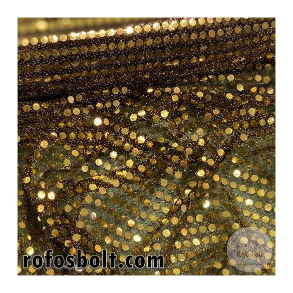 Arany flitteres elasztikus mesh (ME4280)