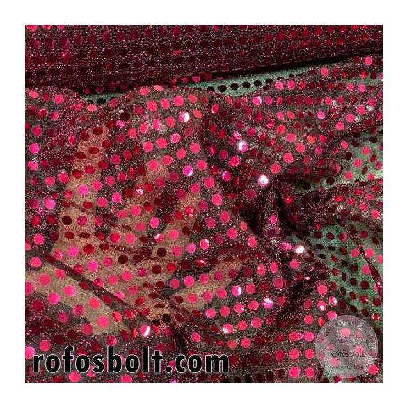 Rózsaszín flitteres elasztikus mesh (ME4283)