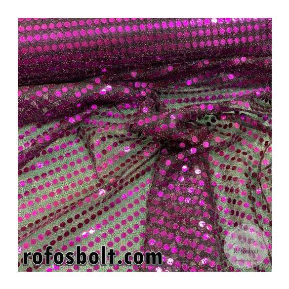 Lila flitteres elasztikus mesh (ME4284)