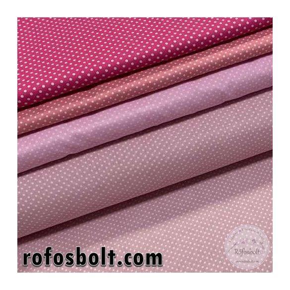 Rózsaszín (Cameo)kispöttyös (2mm) pamutvászon (ME4306)