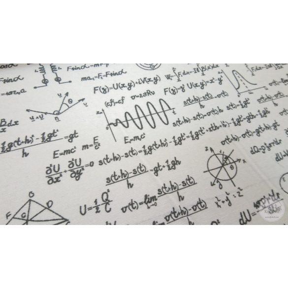 Fehér alapon fizika tételes dekortextil (ME4397)