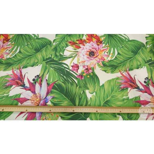 Kaktuszvirág pálmalevelekkel dekortextil (ME4401)