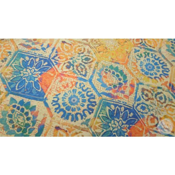 Portugál csempe minta No.2 kék narancs árnyalat (ME4406)