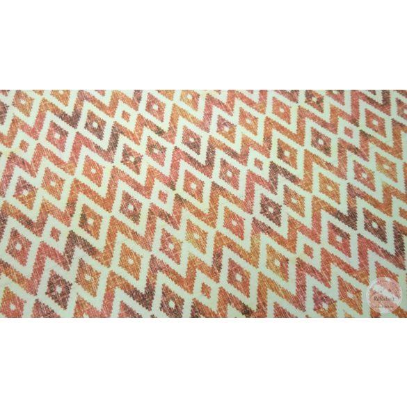 Narancs bordó indián mintás dekortextil (ME4409)