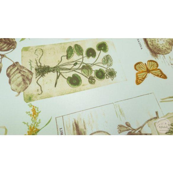 Party: Pillangó szőlő búzakalász vízlepergető szövet (ME4420)