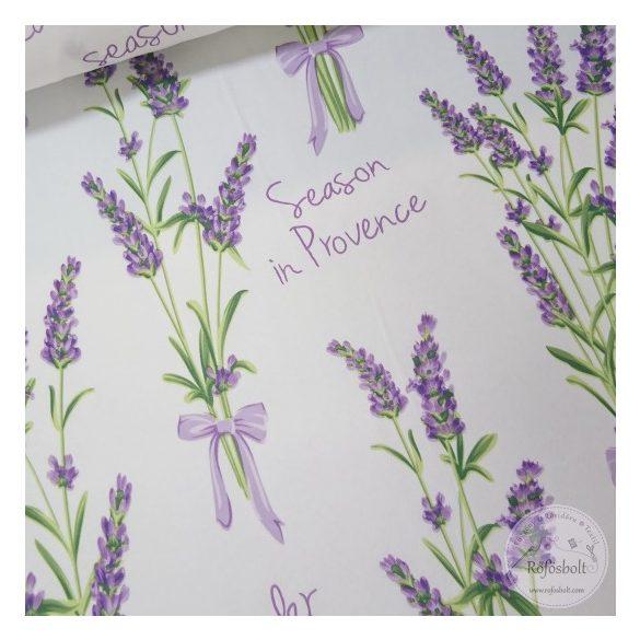 0,8 m EGYBEN KÉRHETŐ Party: Levendula Provence fehér alapon vízlepergető szövet (ME4423)
