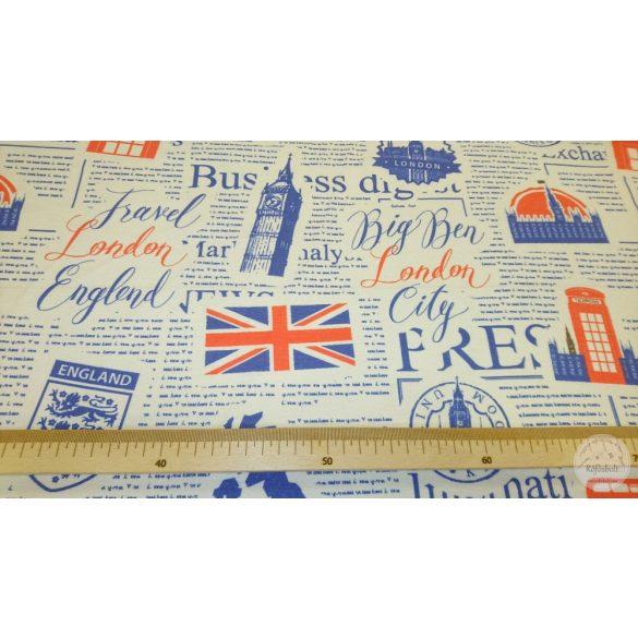 Big Ben London travel fehér alapon dekortextil (ME4445)