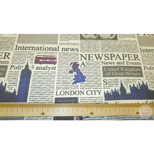 UK Press újságpapíros dekortextil (ME4446)