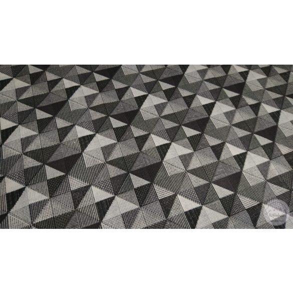 Fekete fehér négyzetes pamutvászon (ME4467)