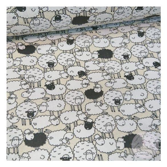 Csendes bárányok csapatban pamutvászon (ME4470)