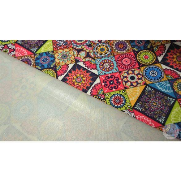 Carneval mozaik, élénk színekkel vízlepergető szövet (ME4481)