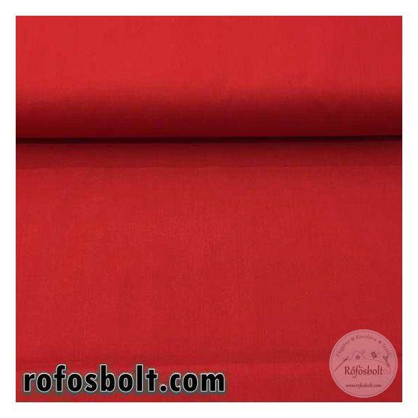 Piros egyszínű pamutvászon (ME951)